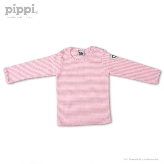Langarm-Shirt Odense 60   weiß-rosa