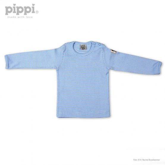 Langarm-Shirt Odense 60 | weiß-hellblau