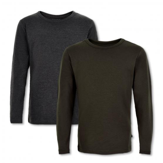 2er-Set: Langarm-Shirts Asserbo