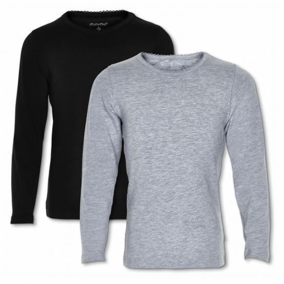 2er-Set: Langarm-Shirts Ydby