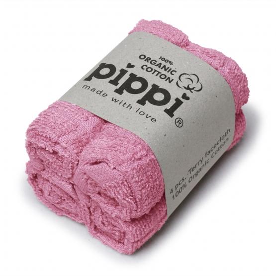 4er-Set: Waschtücher Jannerup rosa