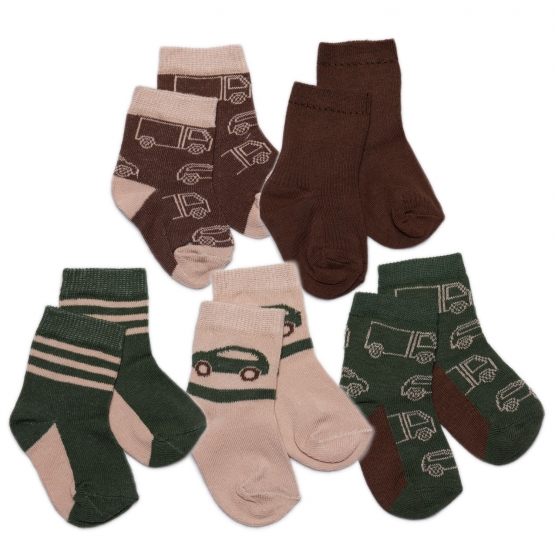 5er-Pack Socken Gråmose