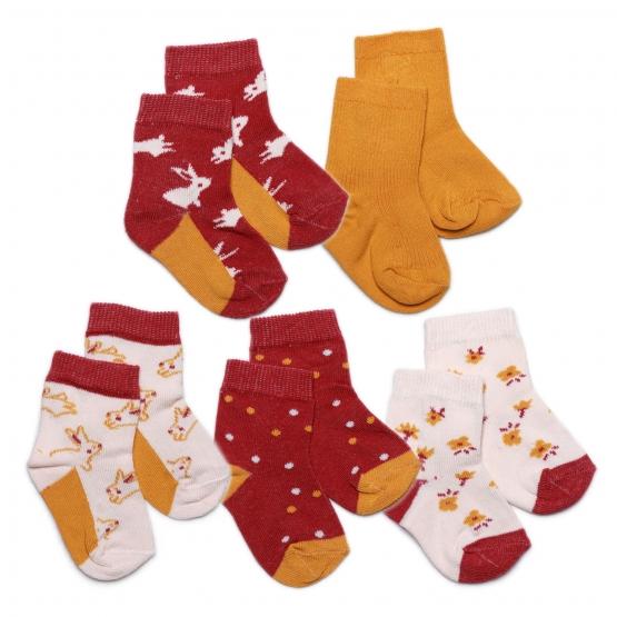 5er-Pack Socken Hvidsten